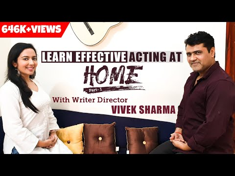 How To Learn Acting At Home Part 1   Eyes and Voice Exercises   FT. Vivek Sharma