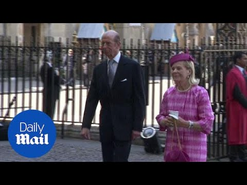 Duke and Duchess of Kent at Westminster Abbey (archive) - Daily Mail