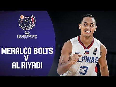 18ca22d2d237 Meralco Bolts (PHI) v Al Riyadi (LBN) - Highlights - FIBA Asia Champions Cup  2018