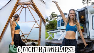 TIMELAPSE - Couple Builds DREAM Tiny House Homestead in 30 minutes
