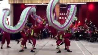 多倫多文化中心台灣之夜邀請卓蘭中學學生舞龍表演
