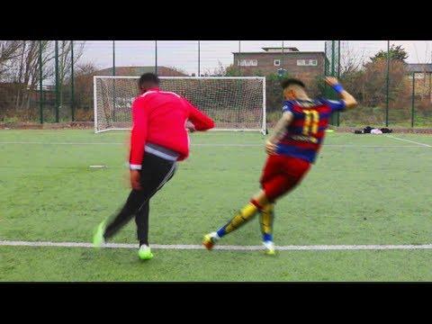 Kid plays football just like neymar, what happens next is amazing
