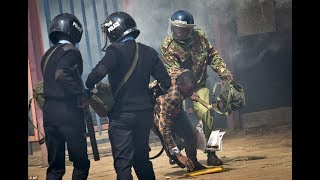 Police beat up Kisumu Journalists who are covering the protest