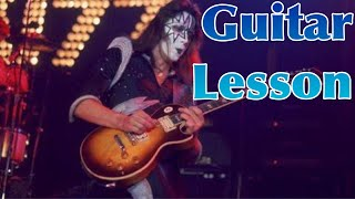 Snowblind - KISS/Ace Frehley Guitar Solo lesson