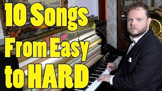 10 Songs From Easy To Hard
