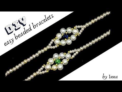 Beaded bracelet. Easy beaded bracelet tutorial for beginners