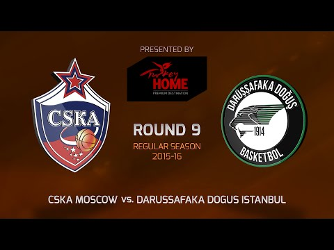 Highlights: RS Round 9, CSKA Moscow 94-66 Darussafaka Dogus Istanbul