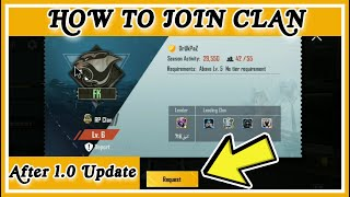 How to Join  CLAN  After  PUBG New Update || How to Join CLAN in PUBG || CLAN JOIN AFTER 1.0 UPDATE