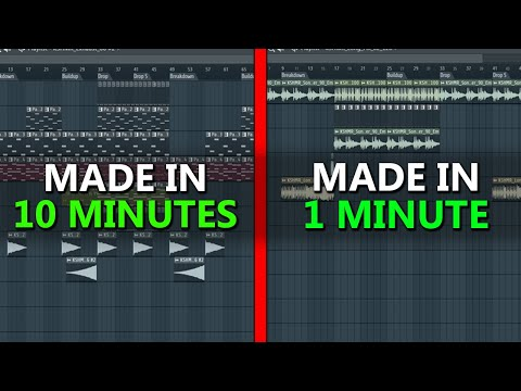 Making a full 3-MINUTE SONG in 10 minutes vs 1 minute - Challenge