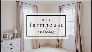 NO SEW, DROP CLOTH FARMHOUSE CURTAINS | EASY + INEXPENSIVE | Becca Bristow