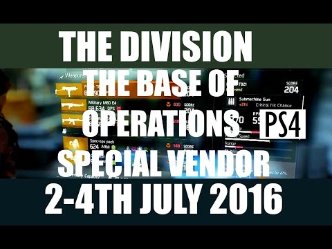The Division Dark Zone Vendor Restock