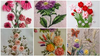 Very Attractive Brazilian Flower Hand Embroidery Patterns //Floral Embroidery Designs