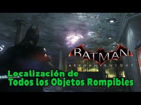 Batman Arkham Knight - Founders' Island - All Breakable Objects