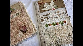 Tutorial   Making An Antique Lace Journal Part 4   Creating More Pockets And Sewing In The Signature