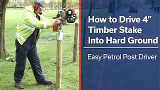 """How to drive 4"""" (100mm) Fence Posts into Hard Ground 