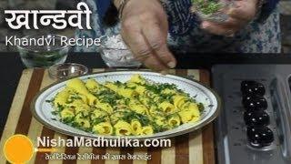 Khandvi Recipe Video  How To Make Khandvi At Home  Besan Khandvi Recipe