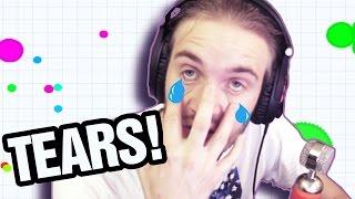 CRYING ACTUAL TEARS. (Agario) -- Part 8