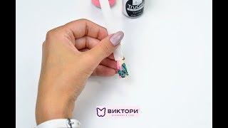 Рисуем бабочку гель-лаком ibd, EzFlow на ногтях. Компания Виктори. Кравченко Алла. Butterfly