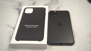 Official Apple Leather Case Black for iPhone 11 Pro Max Unboxing and Review