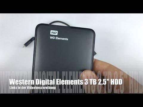 WD Elements Portable 3TB Test - externe Tragbare Festplatte im Testbericht
