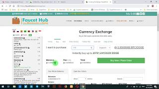Part 2 Exchange btc to dogecoin in faucethub...