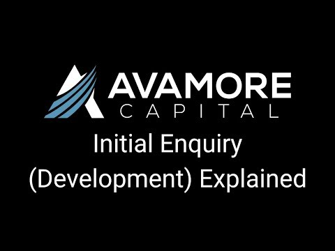 Avamore's Initial Enquiry Process (Development)
