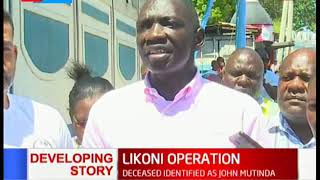 Cyrus Oguna addresses the nation after the Likoni tragedy that left one person dead