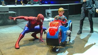 Team builds special Spider-Man-themed wheelchair for Elsmere boy