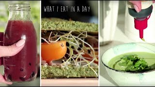 WHAT I EAT IN A DAY  Vegetar Elsk Mig Selv Dag!