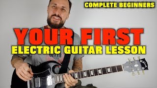 First Electric Guitar Lesson Complete Beginners