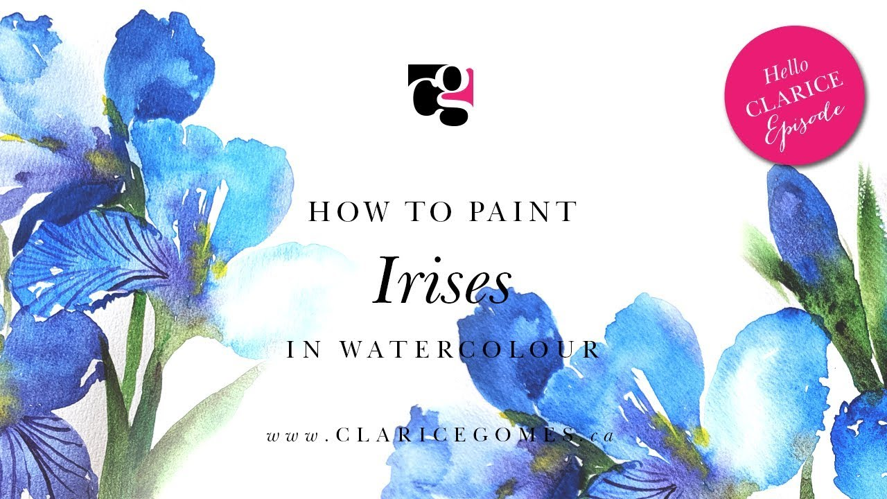 How to Paint Loose Irises in Watercolour