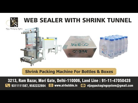 Web Sealer with Shrink Tunnel-Semi Automatic Bottling Plants