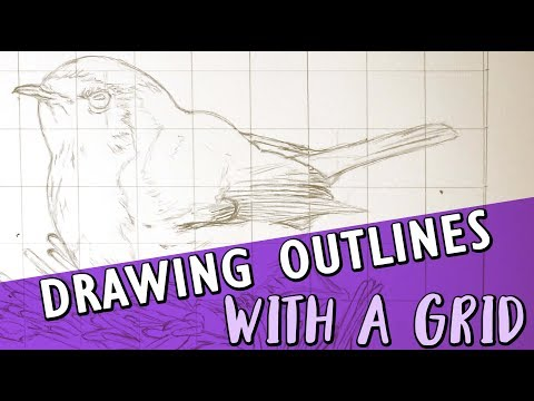 DRAWING OUTLINES USING A GRID | Drawing Tutorial