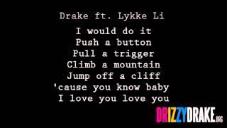Drake ft. Lykke Li - Little bit Lyrics [VIDEO]