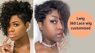 Short Waved Lace Wig  360 Lwig Review