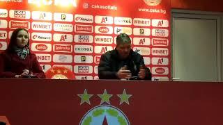 Любо Пенев след победата на ЦСКА над Ботев Враца