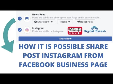 How it is possible share post instagram from facebook business page