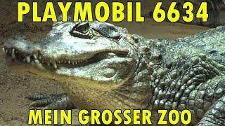 """""""PLAYMOBIL 6634 MEIN GROSSER ZOO + STREICHELZOO + ZOOFAHRZEUG"""" -Vorstellung mit echten Tieren !"""