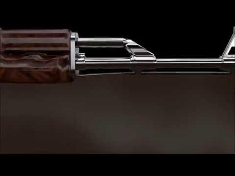 CS:GO AK-47 - Cinema 4D Speedart + Download - смотреть