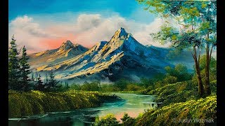 Landscape Painting 101  The Easiest Painting   Paintings By Justin