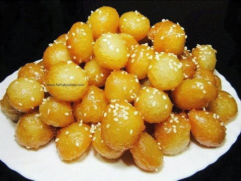 Kaimati /Lugaimat With Sesame Seeds { Sweet Dumplings}