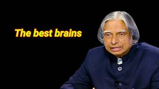 The best brain || motivate||apj Kalam sir thought||WhatsApp status & quote video||nature video tech