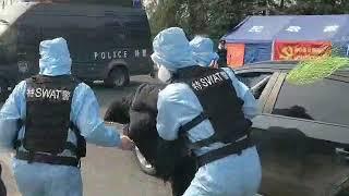WIRUS Cwiczenia SWAT na wypadek proby zlamania kwarantanny.Oddajemy krew dla Wuhan.