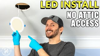 Recessed Lighting Install with No Attic or Prior Wiring
