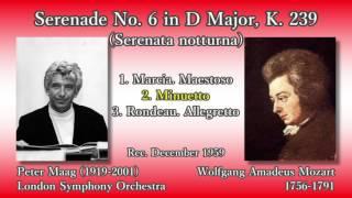 Mozart: Serenata notturna K. 239, Maag & LSO (1959) モーツァルト セレナータ・ノットゥルナ マーク