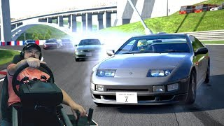 Невероятная БОРЬБА  до самого финиша!!! Nissan Fairlady 300ZX и GT5