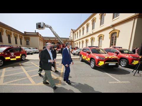 Presentación de 25 nuevos vehículos del Consorcio Provincial de Bomberos