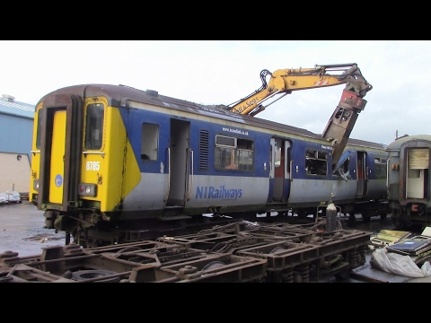 450 Class Scrapping at Ballymena P Way Yard in Ireland 1st F…