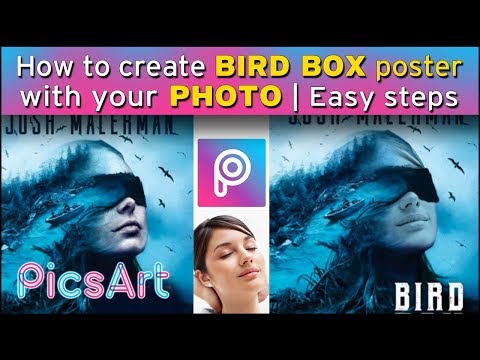 YOU CAN EDIT BIRD BOX MOVIE POSTER WITH USE YOUR PHOTO| MOBILE PICS ART EDITING 2019 | EASY 3 STEPS