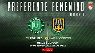 R.F.F.M. - Jornada 19 - Preferente Futbol Femenino (Grupo 1): C.F. Pozuelo de Alarcón 1-3 A.D. Alcorcón S.A.D.